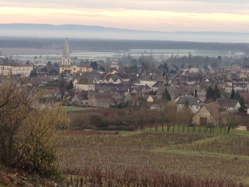 View of Givry from Clos Cellier aux Moines