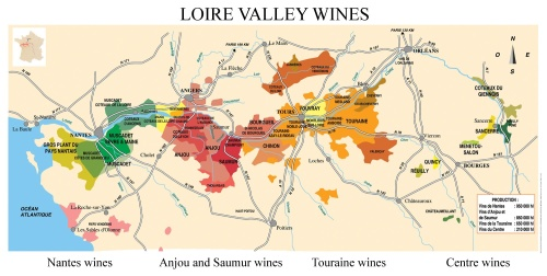 Sancerre is at the eastern edge of the Loire Valley.